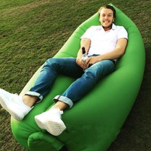 European and American creative outdoor lazy bed Outdoor inflatable bed quickly A nap leisure sofa bed(China)