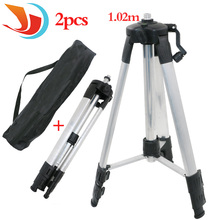 "Portable High quality 1.02m Adjustable Height thicken aluminum Tripod 5/8"" male threads laser level tripod"