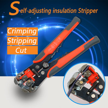QST Multi Functional Automatic Cable Wire Stripper Plier Self Adjust Crimper Terminal Tool Cutting Crimping Stripping(China)