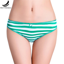 Prettywowgo New 2017 Striped Women Cotton Underwear 6802