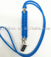 10 Colors High Quality Paracord Necklace Hand woven  Bus IC Card Holder Employee Identity Card With Lanyard Card Holder