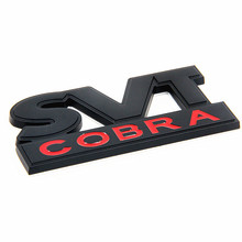3D Metal Black SVT COBRA Truck Lid Emblem Car Badge Styling Fit for Ford Mustang GT V6 Sticker