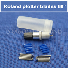 1pcs Roland blade holder and 10pcs 60degree Roland cutter blades ,Roland plotter blades and holder(China)