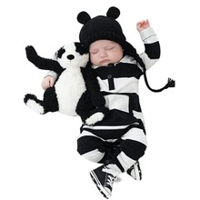 100% Cotton Infant Baby Boy Girl Kids Winter Jumpsuit Spring Autumn Striped Bodysuit Clothes Outfit Newborn
