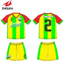 2016 Wholesale Sublimation New Design Soccer T-Shirts football uniforms Thai Quality