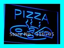i004 OPEN Hot Pizza cafe Restaurant LED Neon Light Signs On/Off Switch 7 Colors