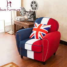 leisure color matching sofa cloth art sofa Lazy sofa bedroom(China)