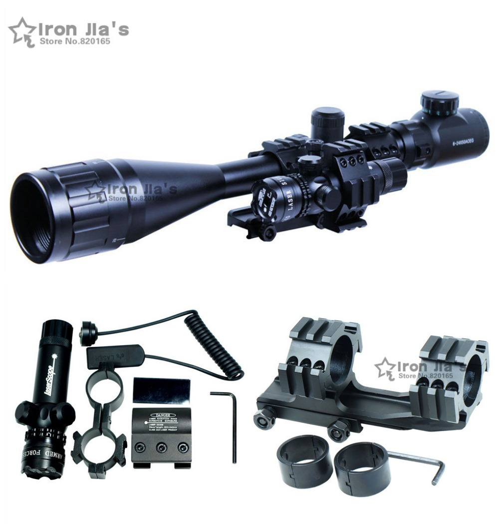 6-24x50 AOEG Riflescopes Green Red Dot &amp; GREEN Laser Sight Combo Reticle Airsoft Holographic Optical Sight Hunting<br><br>Aliexpress
