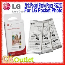 30 Sheets Pcs LG Pocket Photo Paper Zink PS2203 + Free Gift Smart Mobile Printer Paper For LG PD221 PD233 PD239