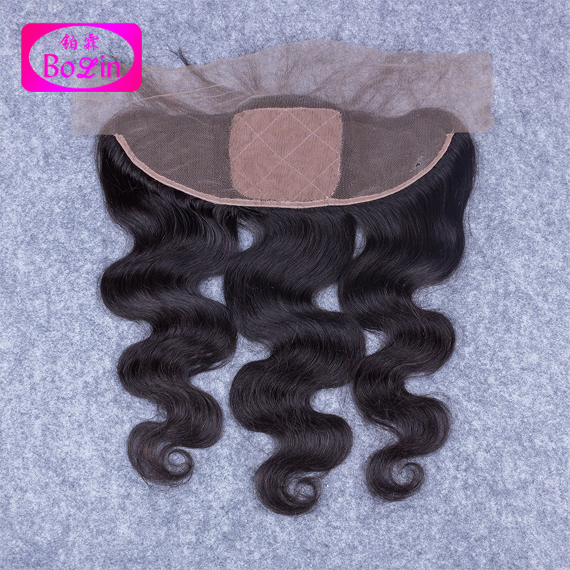 peruvian silk base frontal Closure Peruvian Virgin Hair Body Wave Silk Lace Frontal Ear To Ear With Baby Hair Bleached Knots<br><br>Aliexpress