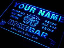 q-tm Name Personalized Custom Family Home Brew Mug Cheers Bar Beer Neon Sign Wholesale Dropshipping On/Off Switch 7 Colors DHL