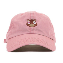 FancyQube 2017 Graduation College Dropout Bear Dad Hat Black Pink Baseball Cap Hip Hop Summer Snapback Hat