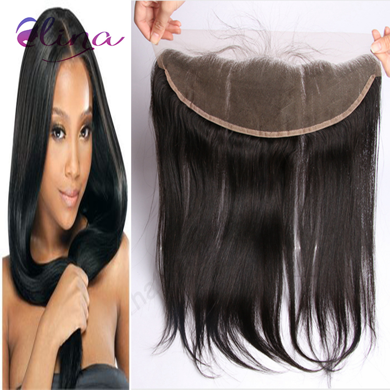 10A Straight Virgin Indian Lace Frontal Closure 13x4 Free/Middle/3 Part Indian Ear To Ear Lace Frontal With Baby Hair DHL Free<br><br>Aliexpress