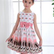 cotton Blend +Polyester Girls Kids girl dress Princess Bow Tutu Dress One Piece Tops Pageant Tulle shaqun 2-7 years