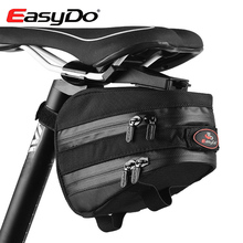 EasyDo Nylon Outdoor Waterproof Road Bicycle Accessories Mountain Bike Saddle Bag Cycling Seat Pack With Rain Cover Bici Bolsa(China)