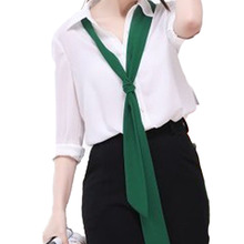 New Arrival 9 Colors   Women Scarf Twilly High Quality Lengthened Solid Skinny Bind Vintage Black Narrow Elongated Ribbon