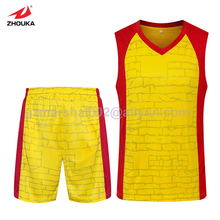 Wholesale popular design cheap Basketball jersey set  fast shipping