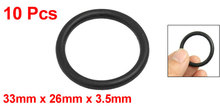 Uxcell 10 Pcs 3.5Mm Black Silicone O Rings Oil Seals Gaskets Id . | 26mm | 27mm | 28mm | 29mm | 30mm | 31mm