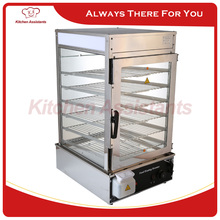 KA600L 110V 220V electric stainless steel electric bread bun food steamer display showcase with surrounded toughened glass