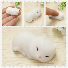 Kawaii Slow Rising New Arrived Cat Pussy Kitty Mochi Squishy Cute Phone Straps Soft Doll Squeeze Pendant Bread Cake Kid Toy Gift