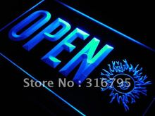 j769 OPEN 8 Balls Pool Billiard Room LED Neon Light Sign Wholeselling Dropshipper On/ Off Switch 7 colors DHL