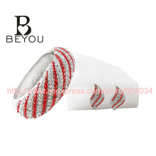 Exclusive Design Exaggerated Queen Fashion Crystal  rhinestone Bangle  Delta Sigma Theta Sorority  Bracelet  DST cuff   bangle