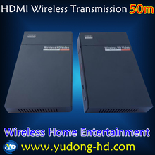 Free shipping China post parcel 50m Wireless HDMI HD Transmitter Digital Wireless HD Mirror Solution for Meeting(China)