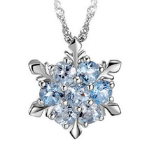 Charming Jewelry Natural Temperament Zircon Snowflake Shaped Pendant Necklace 2 Colors Drop Shipping NL-0945(China)