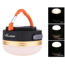 Super Bright Mini Led Camping Lamp Light Outdoor Tent Lamp Lantern USB Rechargeable Campsite Hanging Emergency Phone Charger