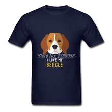 Men t shirt I Love My Beagle Animal 2017 Popular Famous Brand Clothing Cotton Hot Sale Mens Shirt Camisetas(China)