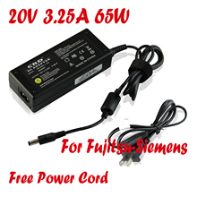 US Plug 20V 3.25A 65W Laptop Adapter For Lenovo IdeaPad S9 S10 S12 Fujitsu Siemens Amilo 1451G Lifebook A4170(China)