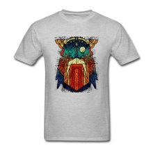 Men T-shirt High Quality White Short Sleeve Custom Tees Shirt Men's Geometric Modern Odin Vikings Art Teenage Clothes