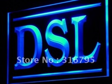 j202 DSL Display Service Lure Decor LED Light Sign Wholeselling Dropshipper On/ Off Switch 7 colors DHL