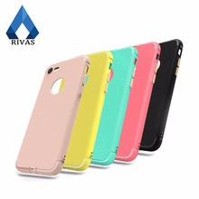 RIVAS Case Ultra-Thin Soft Phone Shell for Apple iphone 6 6s 6Plus 7 7S Plus TPU Soft Case Cover New Protector with Dust plug