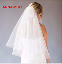 2017 High Quality Cut Edge Tulle Bridal Veil White/Ivory Wedding Veil Wedding Accessories