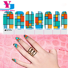 Hot Geometric Nail Art Stickers Wraps Nail Decorations New Arrive Gel Polish Patch Decals Cool Fashion Beauty Tools Supplier