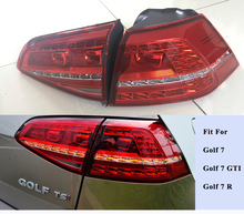 For Golf MK7 GTI 7 Flowing Light Rear Lamp sets LED TAIL LIGHTS cherry red- Shooting Star style fit for VW Volkswagen