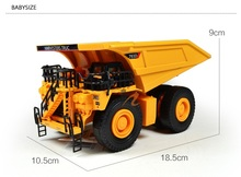 Mine Dump Truck Large Wide-Body Truck Model Alloy Models Metal Children Toy 1:75 Birthday Gift Free Shipping Christmas Present
