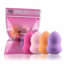 4pcs Beauty Foundation Sponge Facial Makeup Sponge Cosmetic Puff Smooth Beauty Gourd Powder Puff Make Up Sponge for face