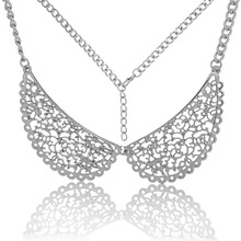 MJARTORIA 2017 New Women Fashion Angle Wings Necklace Choker Chunky Statement Bib Necklace Fine Jewelry For Women Girls 43.5cm