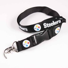 Key Lanyard Pittsburgh Steelers Football Sport ID Badge Holders Sport Mobile Neck Strap Keychains For USA Football Fans 6pcs/lot
