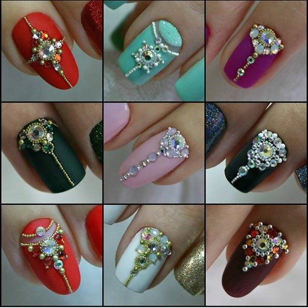 Дизайн на ногтях из страз