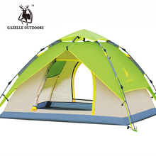 Multifunctional Double Hydraulic Automatic Rainproof Outdoor Military Beach Fishing Large Camping Tent 4 persons Gazebo Awning