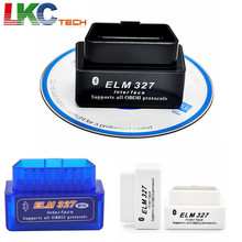 50pcs/lot Super Mini ELM 327 V1.5+ Bluetooth OBD II OBD2 Works On Android Phone & PC Auto Car Diagnostic Interface Scanner DHL(China)