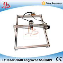 Russia no tax  LY 5040 5500MW Mini DIY Laser Engraver IC Marking Printer laser cutter Blue Violet laser engrave machine