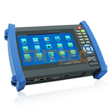 "TDR cable test CCTV Tester Pro 7"" test monitor Wifi,HDMI 1080P,POE,PTZ test Analog and IP CCTV Camera Tester  (IPC-6800T)"
