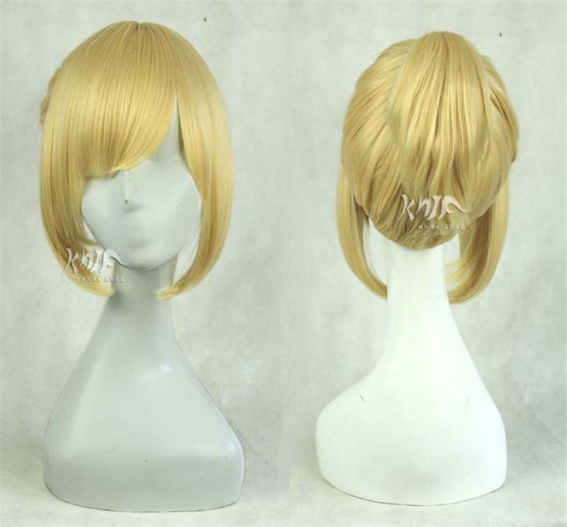 New arrival top quality synthetic vocaloid Cosplay Figure Vocaloid Kagamine Len Wig twins blonde cosplay full wig<br><br>Aliexpress