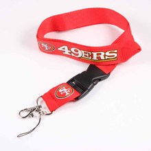 Key Lanyard San Francisco 49ers USA Sport ID Badge Holders Sport Mobile Neck Strap Keychains For USA Football Fans 6pcs/lot