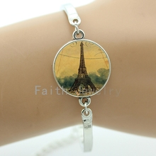 Buy Steampunk retro Paris France Eiffel Tower bracelets 2016 latest fashion Eiffel Tower hot air balloon bracelet NS401 for $1.20 in AliExpress store