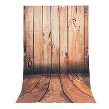 3x5FT Wood wall Floor Vinyl Photography Background For Studio Photo Props Photographic Backdrops cloth 0.9 x 1.5M(China)